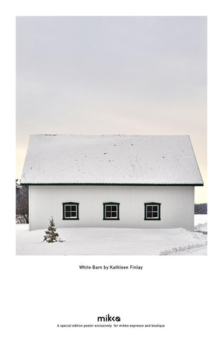White Barn by Kathleen Finley