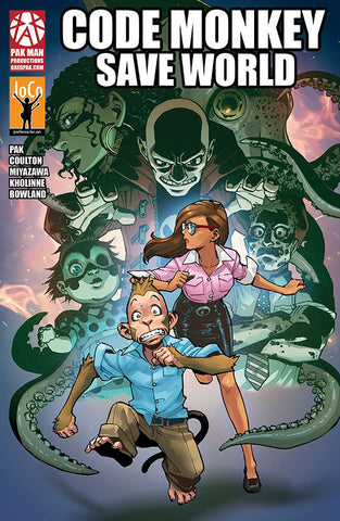 Code Monkey Save World graphic novel - 10 copies - signed by Greg Pak
