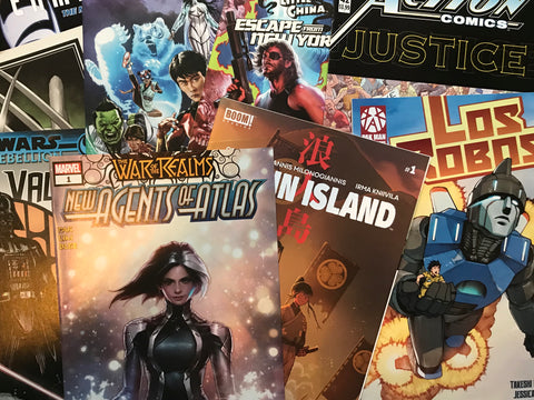 Mystery box of 10 comics signed by Greg Pak!