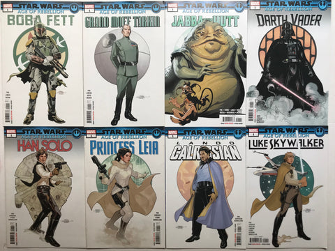STAR WARS: AGE OF REBELLION comics - full set of eight signed by Greg Pak!