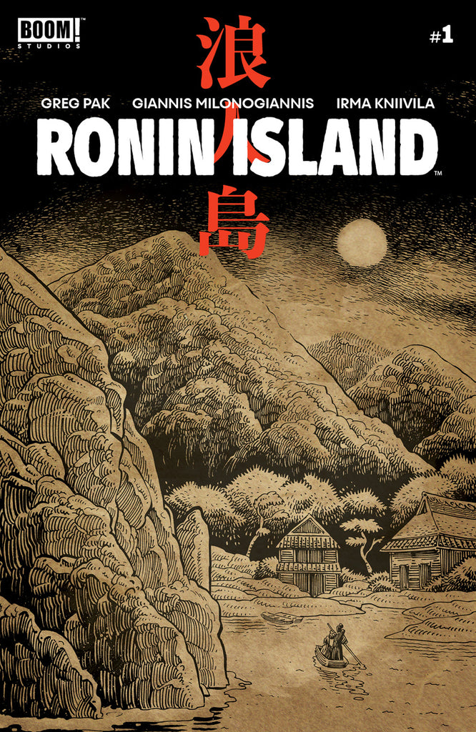 RONIN ISLAND #1 - Ethan Young variant cover - signed by Greg Pak