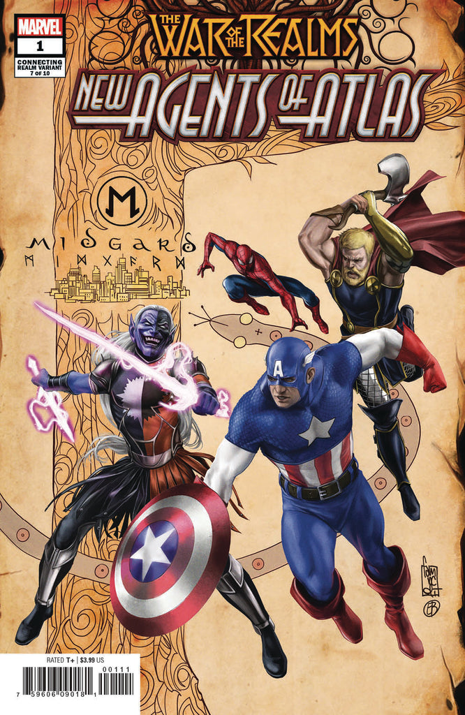 WAR OF THE REALMS: NEW AGENTS OF ATLAS #1 - Camuncoli variant - signed by Greg Pak