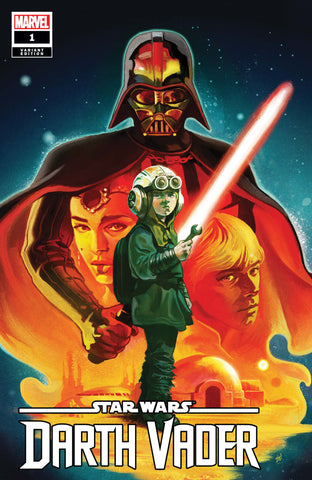 STAR WARS: DARTH VADER #1 Mike Del Mundo variant cover! Signed by Greg Pak