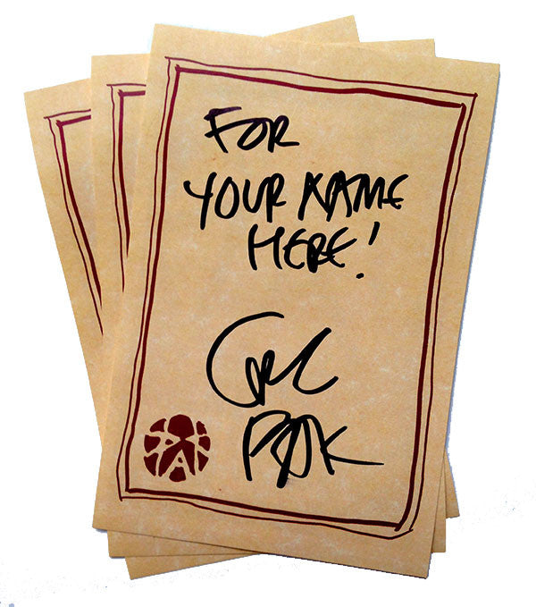 Bookplate stickers signed and personalized by writer Greg Pak!