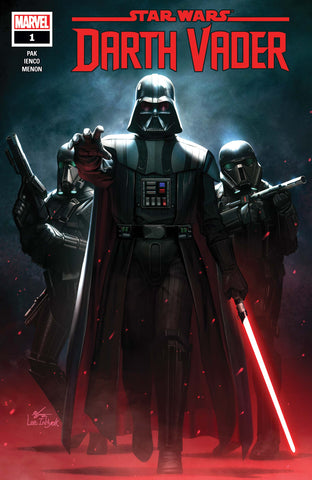STAR WARS: DARTH VADER #1 In-Hyuk Lee main cover! Signed by Greg Pak