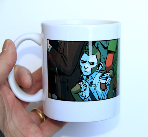 Code Monkey Save World mug!