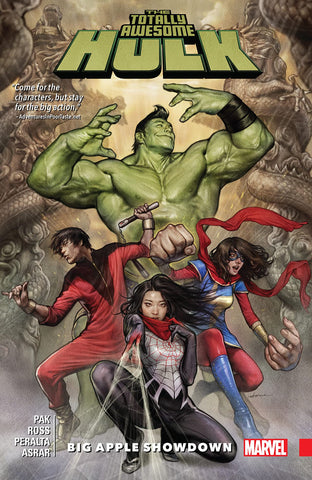 TOTALLY AWESOME HULK: BIG APPLE SHOWDOWN paperback - signed by Greg Pak!