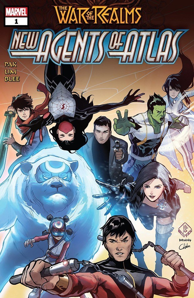 WAR OF THE REALMS: NEW AGENTS OF ATLAS #1 - signed by Greg Pak