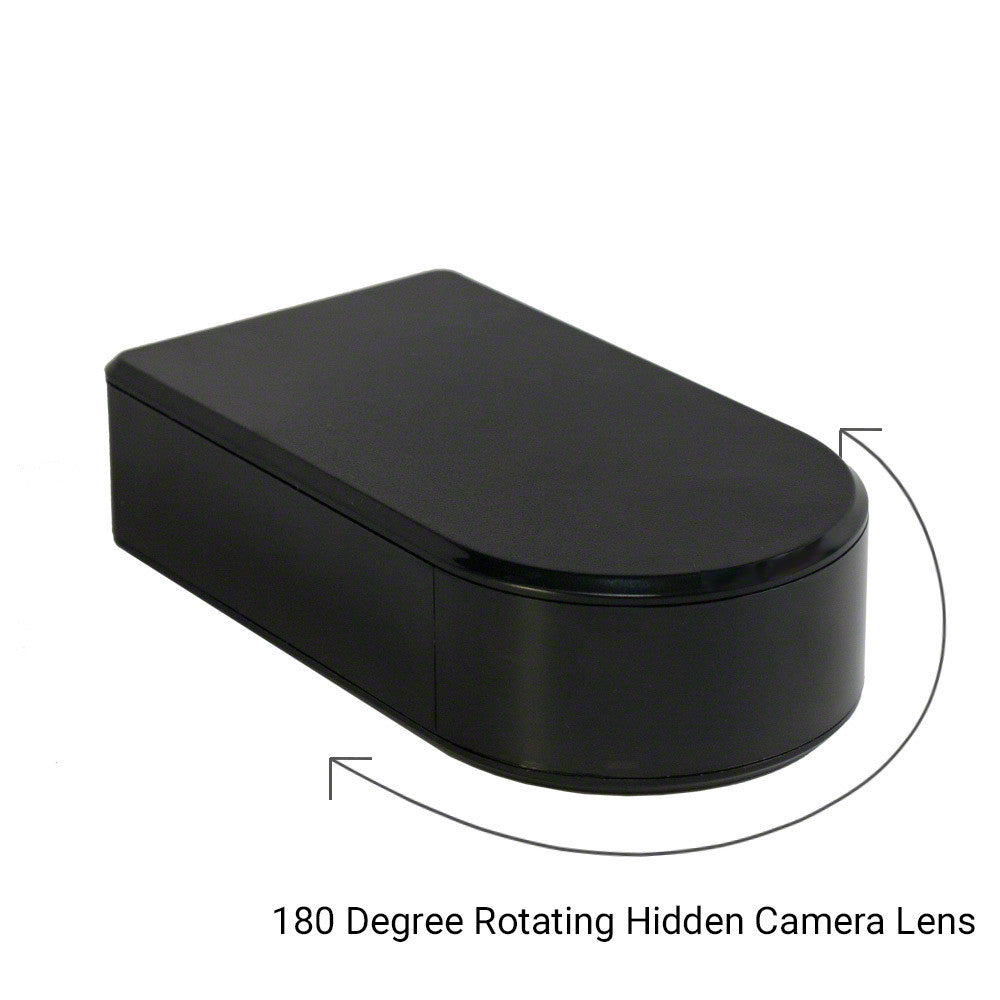 WiFi Black Box Hidden Camera Panoramic Rotatable Covert Lens Motion Activated