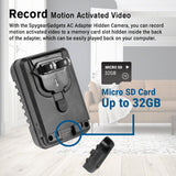 Spy WiFi AC Adapter Charger Hidden Camera 1080P HD Internet Streaming