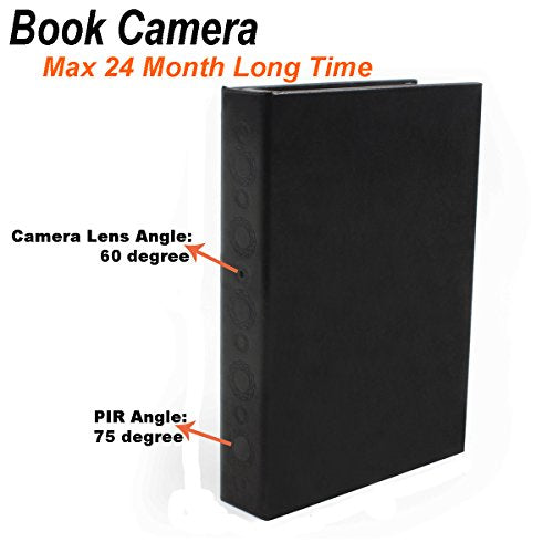 Spy Book Hidden Camera HD Motion Activated Long Battery Life