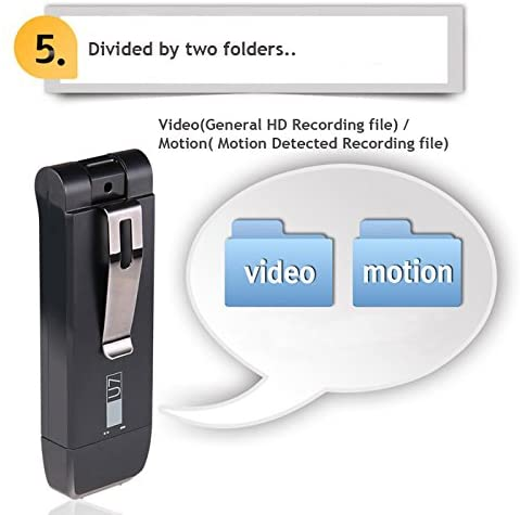 Spy USB Hidden Camera Pinhole Cam Motion Activated 720P HD / 2 -10 Hours Recording Time