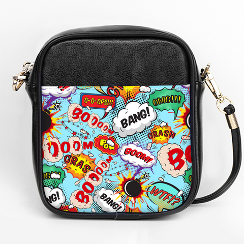 Comic Hero Patterned Purse