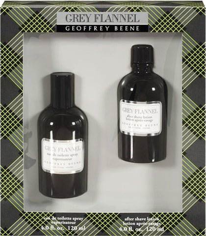 Grey Flannel Set by Geoffrey Beene – Set 4.0 oz Eau De Toilette Spray 4.0 oz After Shave Lotion
