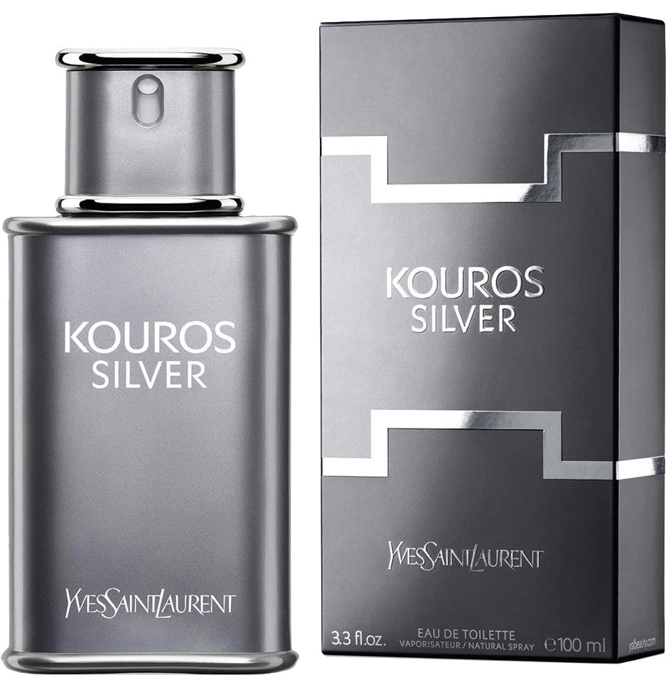 Kouros Silver by Yves Saint Laurent - Eau De Toilette Spray 3.3 oz