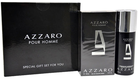 Azzaro by Azzaro - Set 3.4 oz Eau de Toilette Spray 5.0 oz Deodorant Spray