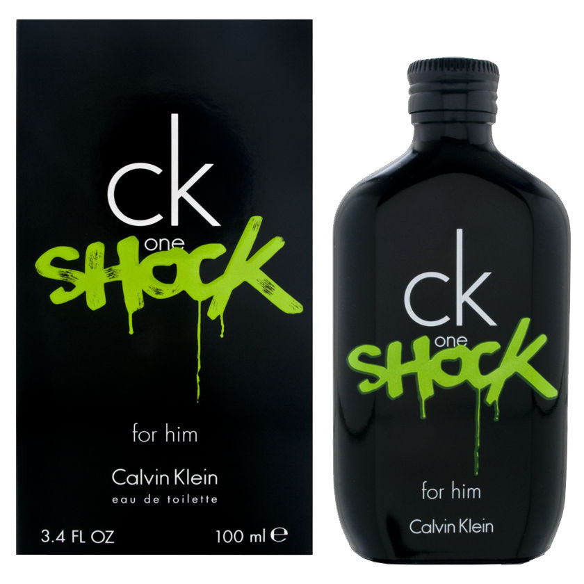 CK One Shock by Calvin Klein - Eau De Toilette Spray 3.4 oz