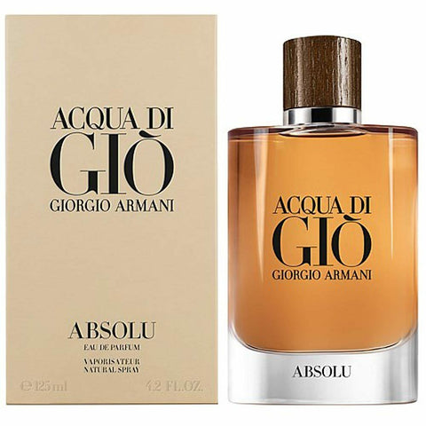 Acqua Di Gio Absolu by Giorgio Armani 4.2 oz Eau De Parfum for Men