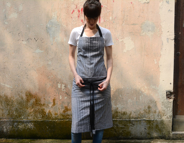 Stripe Ajustable Wrap Apron - chopcookdine