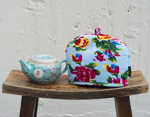 Peony Light Blue Small Tea Cozy - chopcookdine