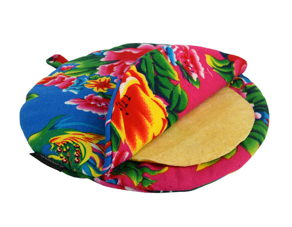 Small Peony Tortilla Warmers - chopcookdine