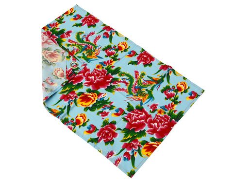 Light Blue Peony Tea Towel - chopcookdine