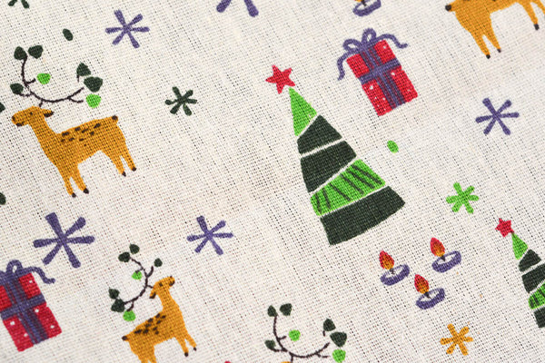 Reindeer Eyelet Tea Towel