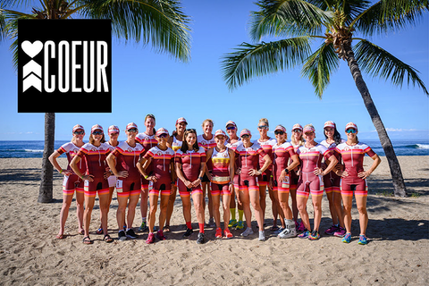 Coeur Sport triathlon team of 100 women