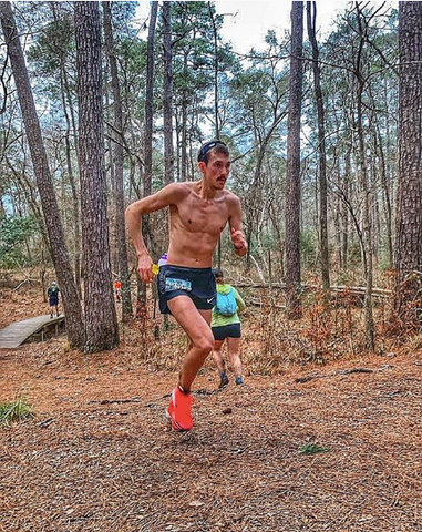 David Laney at the Rocky Raccoon 100 mile race photo credit @ronnie_delzer