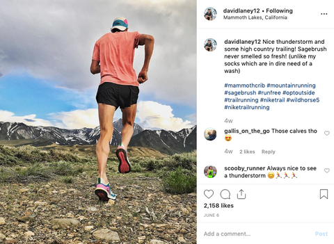 David Laney training near the Mammoth Lakes areas