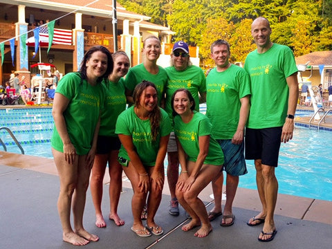 Dynamo Multisport team at the swimming pool