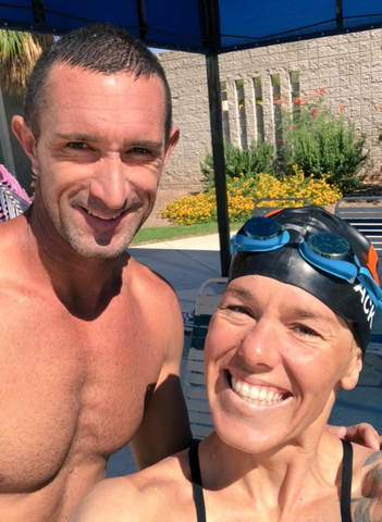 Professional triathletes Heather Jackson & Matt Reed