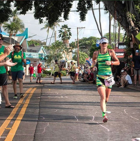 Haley Chura at the 2017 Ironman World Championships in Kona