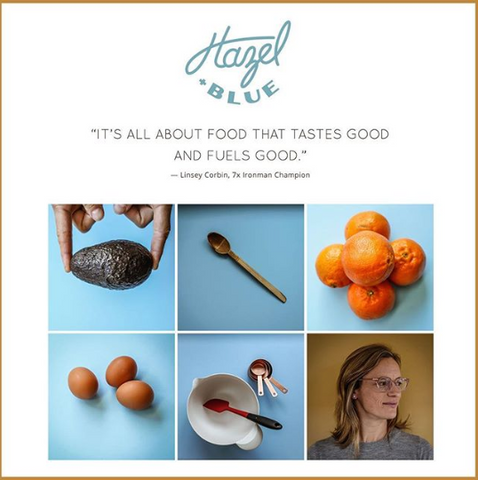 Linsey Corbin's new passion project, Hazel.and.Blue about food