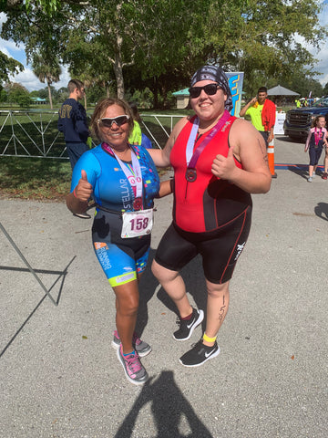 Martha and her daughter Janina Fowler participated in the Mighty Mujer Sprint Triathlon, Miami FL. They took 2nd place for a Mother-Daughter team.