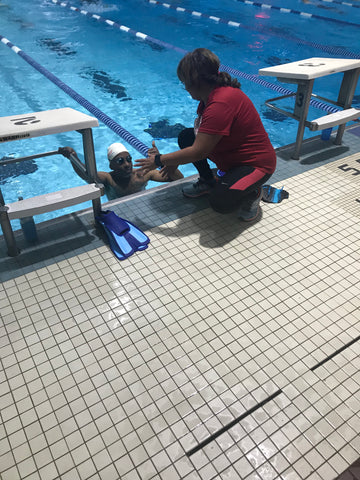 Martha at the US Masters Swimming certification program to obtain a Certified Coach Level 1 & 2 USMS