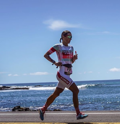 Linsey Corbin racing the 2018 Ironman World Championships in Kona, Hawaii photo cred @corbinbrands
