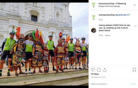Marc Pro Cycling Team racing in Guatemala