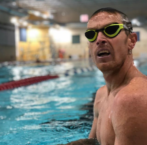 Matt Hanson professional triathlete swim training