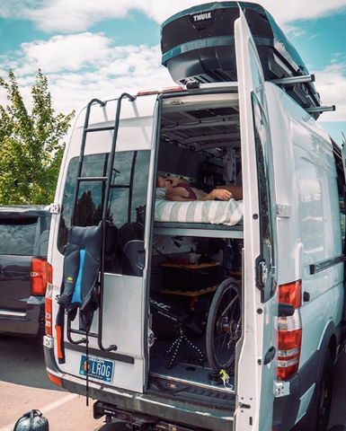 Paula Findlay's Sprinter Van keeps her training on-to-go