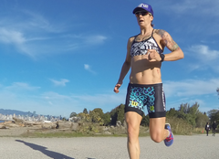 Rachel McBride training outdoors for a IRONMAN Triathlon