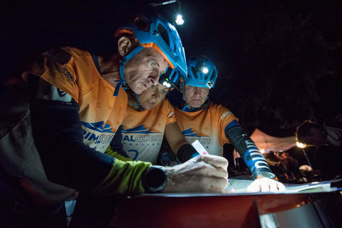 Bones Adventure Racing Team navigating in the dark