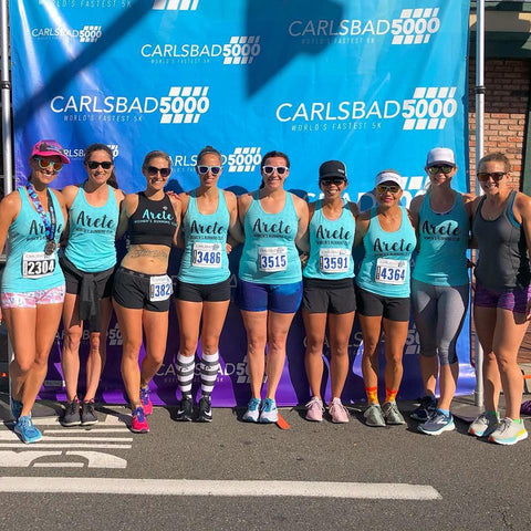 Arete Run Club San Diego chapter at the Carlsbad 5000 race