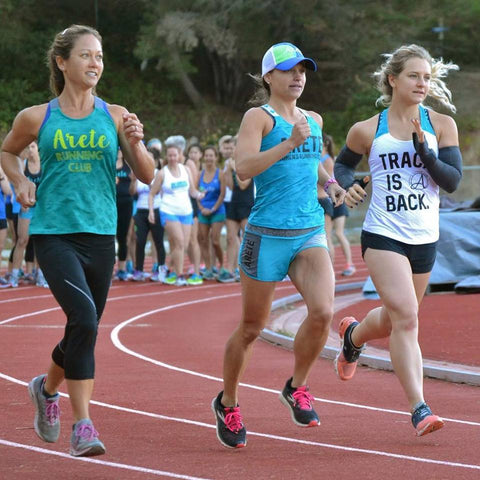 Arete Women's Running Club track group workout