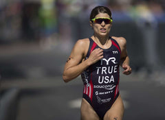 Sarah True, competing in the Olympic Triathlons for Team USA