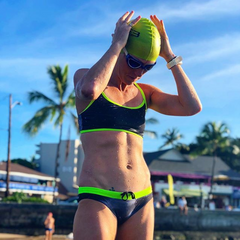 Sarah Piampiano professional triathlete at the swimming pool