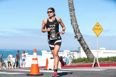 Sarah True Oceanside 70.3 Ironman Photo via Talbot Cox