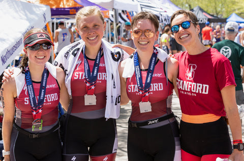 Stanford Triathlon Team SUTT at the National Championships in Tempe, AZ