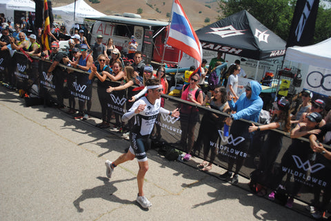 Jesse Thomas Ironman with a second place finish at Wildflower Triathlon