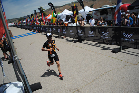 Jesse Vondracek finishes 7th at Wildflower Triathlon in Bradely, CA